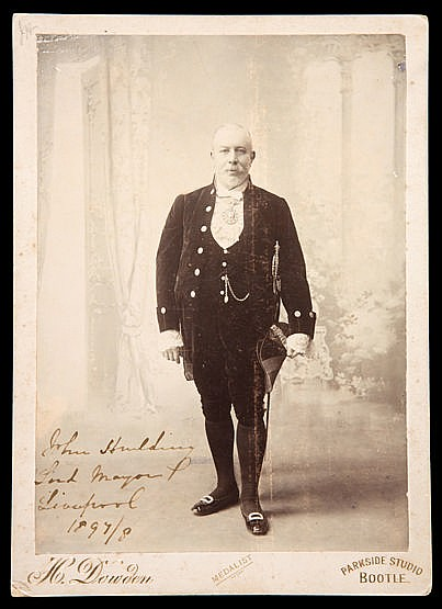 A rare signed photograph of the founder of Liverpool Football Club Sir