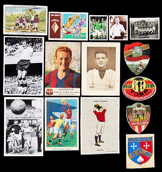 A good collection of football cards,  of all dates, including early is