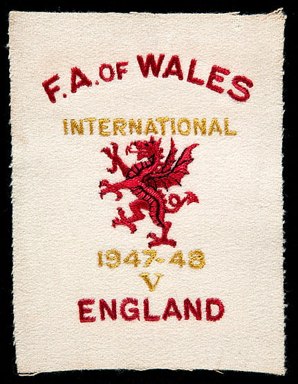 Cyril Sidlow Wales international shirt badge from the England match at