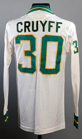 Johan Cruyff Cosmos No.30 jersey from the UNICEF game v World All Star