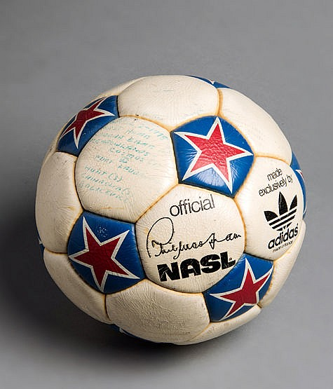 The match ball from the first Cosmos home NASL game of the 1978 season
