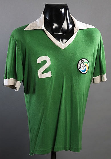 Bobby Smith Cosmos No.2 jersey from the 1978 Championship season, gre