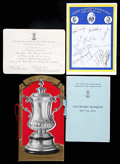 Leeds United 1972 Centenary F.A. Cup Final (v. Arsenal) memorabilia,