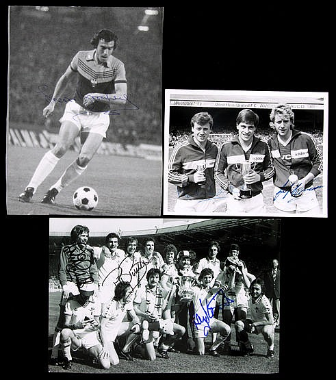 Selection of West Ham United autographs,  Big Blue Tube photo print an