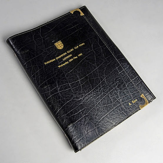 Football Association presentation leather document folder for the occa