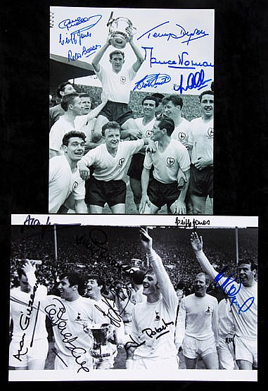 Signed Tottenham Hotspur 1961 and 1967 F,A, Cup Final photographs,  8b