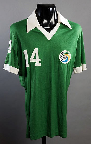 Terry Garbett Cosmos No.14 jersey from the 1978 Championship season,
