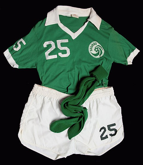 Carlos Alberto's full Cosmos playing kit worn in the NASL Championship