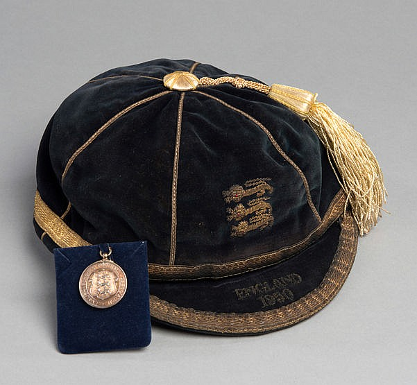 Eddie Clamp England Schools' International football medal and cap 1949