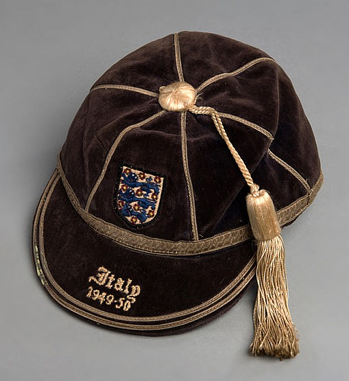 Stan Mortensen England v Italy international football cap 1949-50,  a