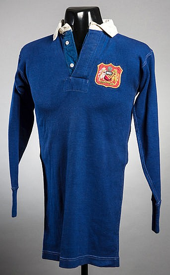 The blue Manchester United No.4 shirt worn by John Anderson in the 194