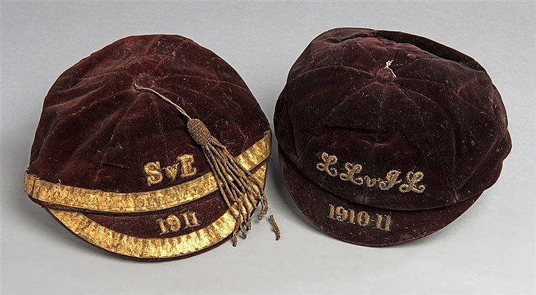 A Scottish junior international cap v England in 1911,  inscribed S v