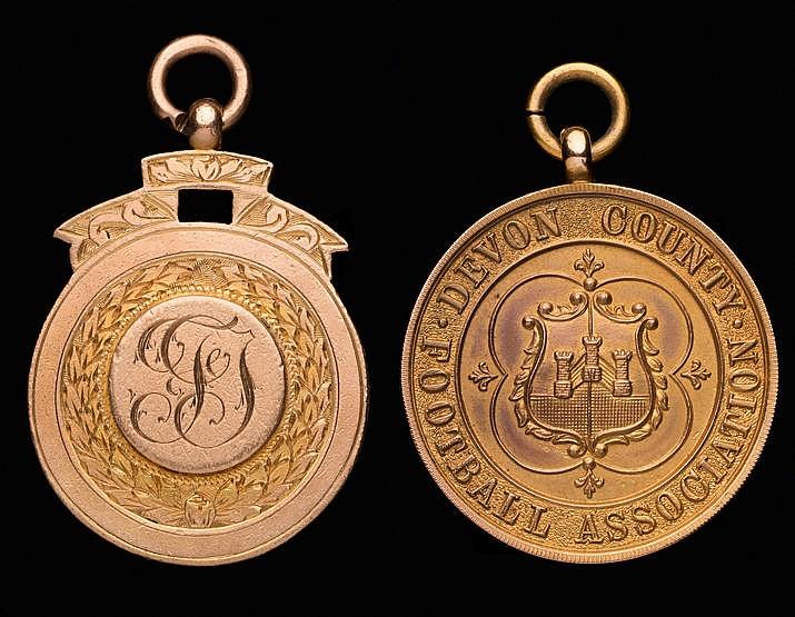 Devon County Football Association Professional Cup winner's medal awar