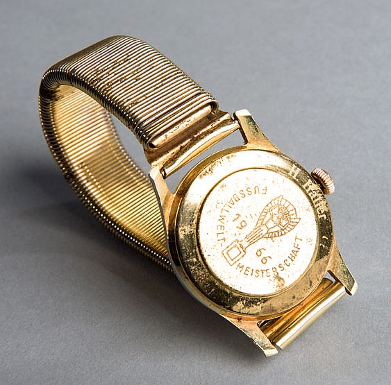 A wristwatch presented to Helmut Haller to commemorate the 1966 World
