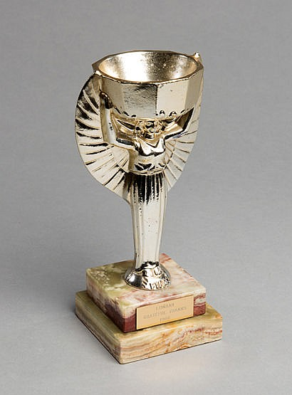 A 1966 replica of the Jules Rimet FIFA World Cup trophy,  gilt-lacquer