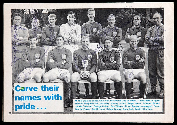 Signed Bill Glazier Testimonial programme Coventry City v England 1966