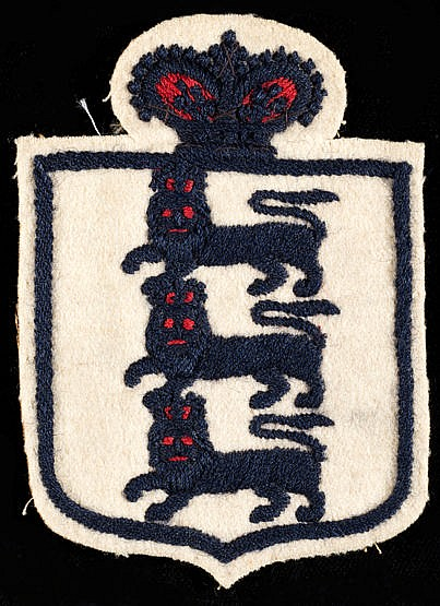 Colin Veitch England shirt badge from the Newcastle United player's in