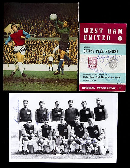 Selection of West Ham United autographs, Big Blue Tube photo print si