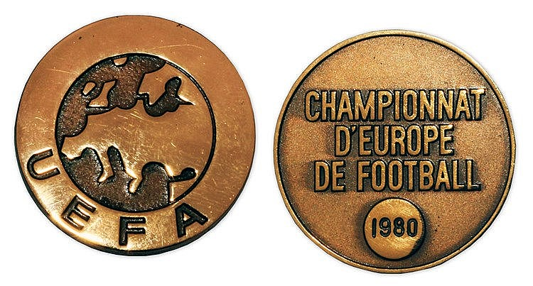 1980 UEFA European Football Championship winner's medal, in Continent