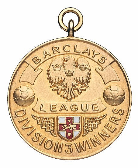 Sunderland Barclays Football League Division Three winner's medal seas