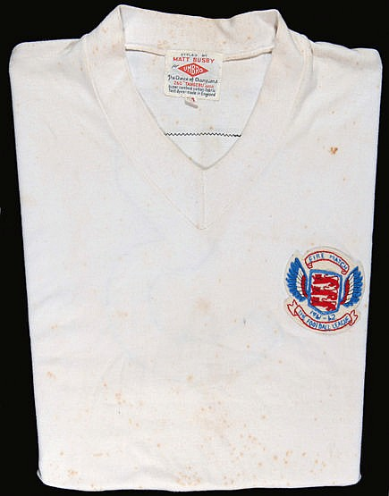 Ray Wilson: a white Football League No.3 representative jersey season