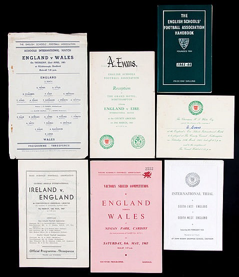 Ephemera relating to the career of the Liverpool footballer Alun Evans