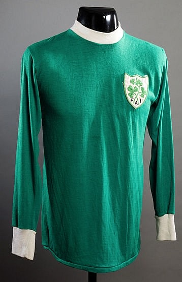 Green Republic of Ireland No.6 jersey from the UEFA U-18 Championship