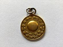 An early gold F.A. Cup winner's medal awarded to Richard Turner of Bla