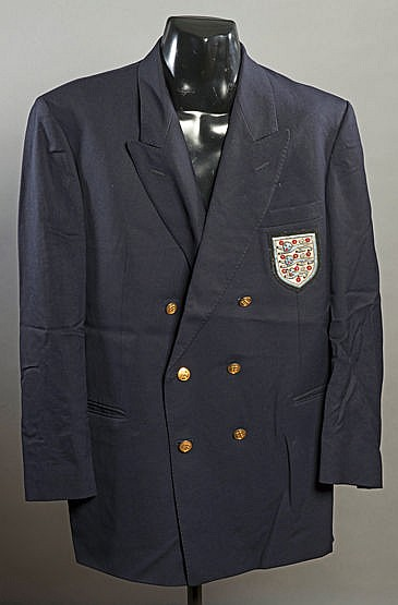 England football team blazer,  navy blue wool by Daks of London, gilt-