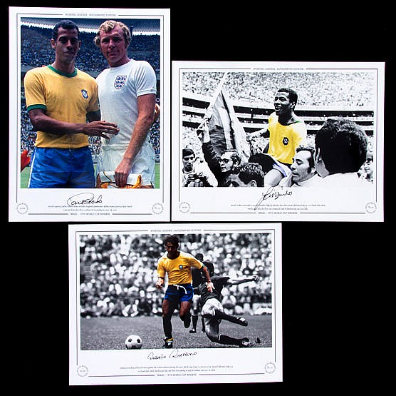 A trio of signed limited edition photographic prints of Brazilian 1970