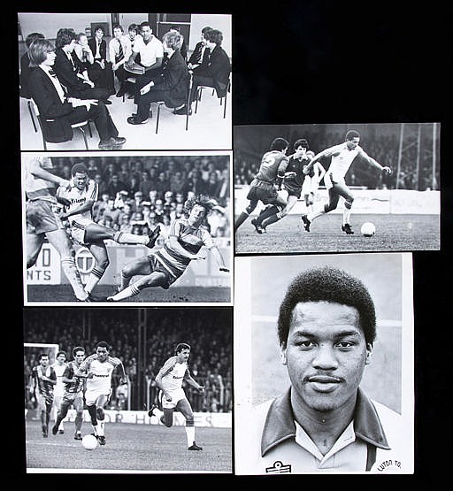 Press photographs featuring Luton Town's Brian Stein circa 1979-1982,