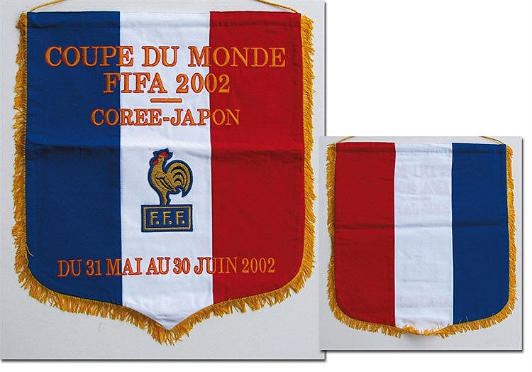 Official match pennant of the French international team at the World C