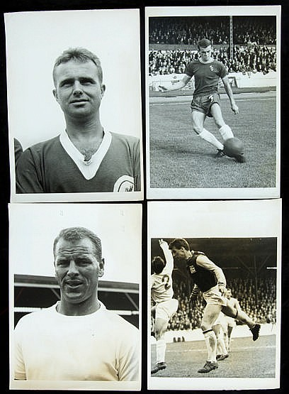 46 b&w; original 1960s press photographs of footballers, mostly portra