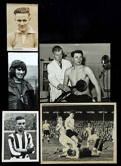 29 original football press photographs 1950s to 1970s,  b&w; various si