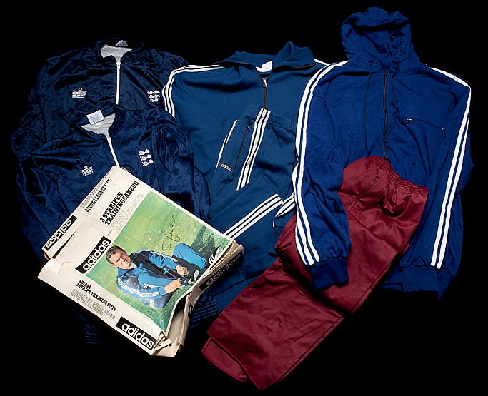 Vintage track suits,  a boxed royal blue Adidas Framz Beckenbauer Mode