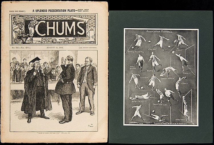 Chums comic 24th August 1907 complete with its supplement presentation