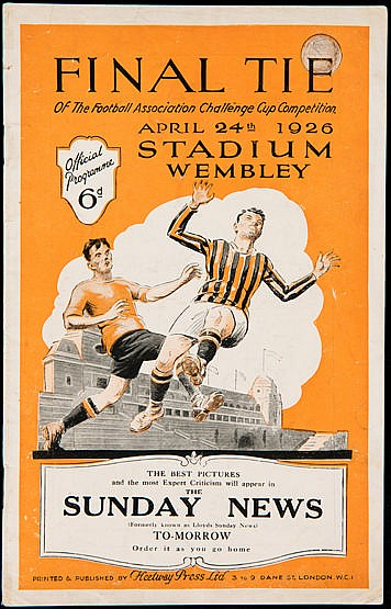 F.A. Cup Final programme Bolton v Manchester City 24th April 1926