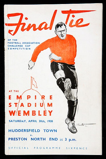 F.A. Cup Final programme Huddersfield Town v Preston North End 30th Ap