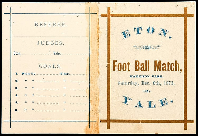 THE OLDEST KNOWN SURVIVING 11-A-SIDE FOOTBALL MATCH PROGRAMME AND FOR