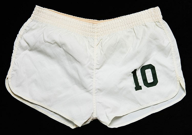 Pele Championship season match-worn Cosmos No.10 playing shorts from t