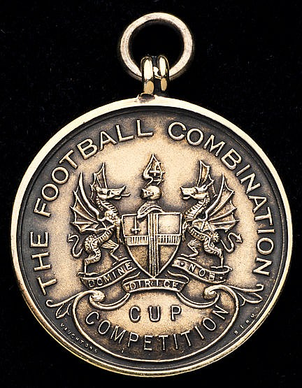 Ray Daniel Arsenal Football Combination Cup runners-up medal 1950-51,