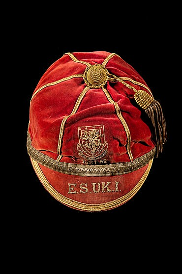 Ray Daniel Wales international football cap 1951-52, the red cap date