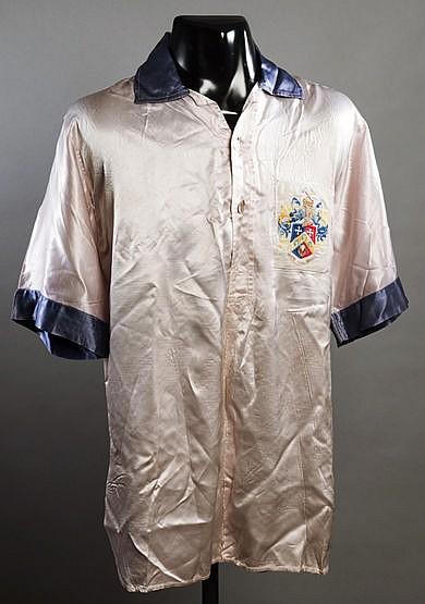 A rare Pat Woods Queen's Park Rangers No.2 shirt 1953-54 season,  shor