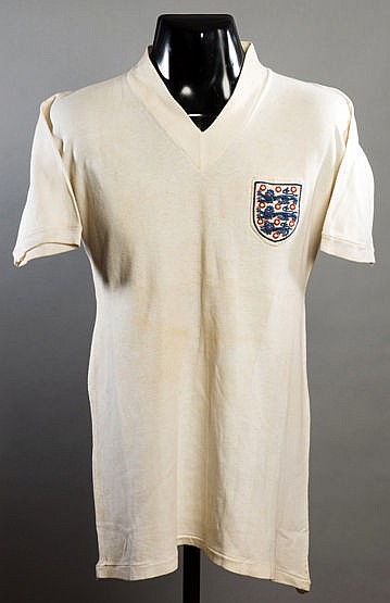 Tommy Taylor match-worn England No.9 international jersey from the gam