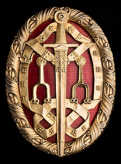 Insignia for Order of Knighthood awarded to Sir Frederick Wall, Secret