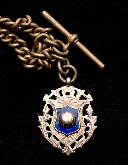 9 ct. gold & enamel Darlington Football medal 1907-08,  inscribed DARL