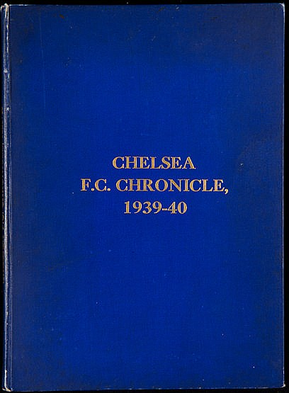 A very rare bound volume of Chelsea home programmes from the disrupted