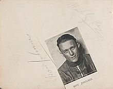 Autograph book with signatures of speedway riders in the early 1930s,