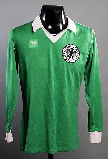 A green West Germany No.6 jersey circa 1979-80,  long-sleeved This shi