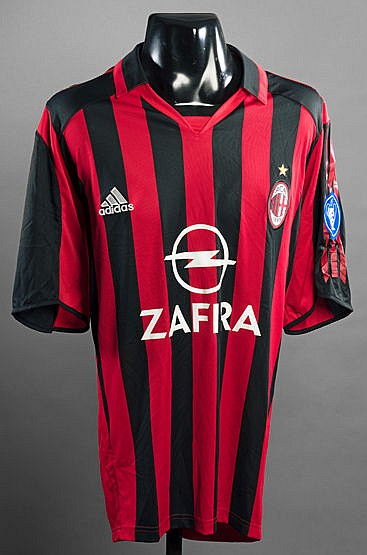 Gennaro Gattuso red & black striped AC Milan No.8 jersey circa 2005,